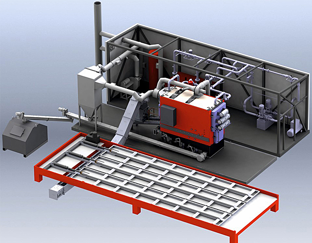 Container boiler houses